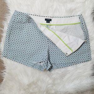 J. Crew City Fit Cotton Patterned Shorts sz 8